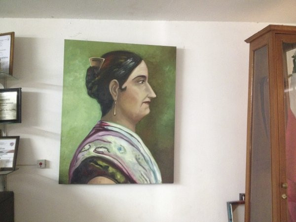 A portriat of Josefa Ortiz De Domingue who the school is named after